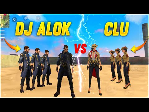 DJ ALOK VS CLU FACTORY CHALLENGE 😂| 4 VS 4 WHO WILL WIN ?| AJJU BHAI | #ajjubhai #factoryfreefire