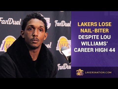 Video: Lakers Lose Nail-Biter Despite Lou Williams' Career High 44
