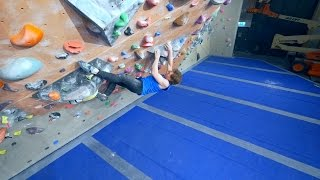 Nikken Is Having A Challening day! by Eric Karlsson Bouldering