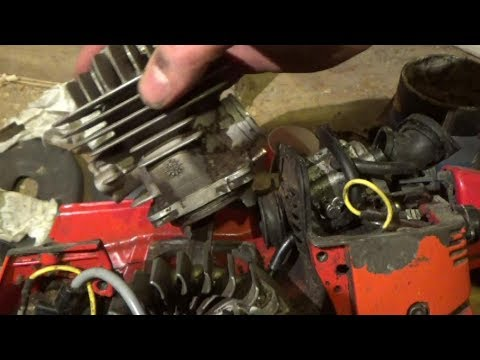 Quick Tip For Fitting Replacement Piston Rings Into A Chainsaw Engine