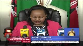Former Devolution CS Anne Waiguru cleared over corruption allegations