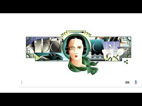Google Doodle Celebrates Art Deco Pioneer Tamara de Lempicka