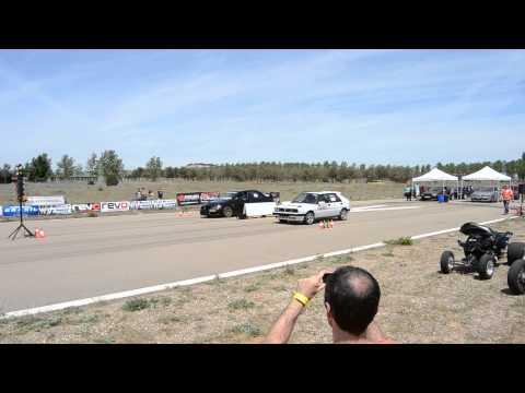 lancia delta integrale vs mitsubishi lancer evo ix - drag race