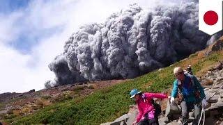 御嶽山が噴火し31人が心肺停止、40人が重軽傷、43人が行方不明