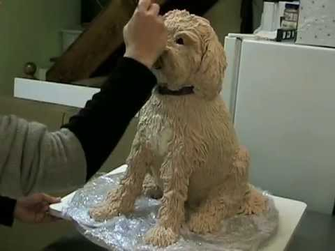How to make a sculpted dog cake