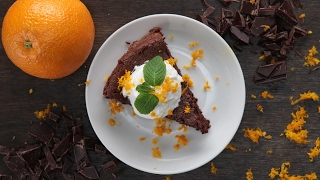 Flourless Dark Chocolate Orange Cake by Tasty