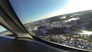 Skien Norway  city images : Wideroe Dash 8 300 cockpit view landing Skien, Norway