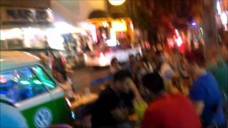 Tourists Enjoying Dining And Eating Late Night On Soi 11 Bangkok
