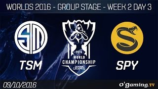 TSM vs SPY - World Championship 2016 - Group Stage Week 2 Day 3