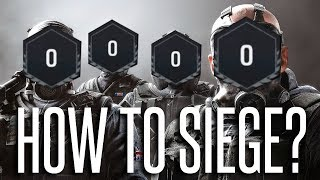 TEACHING LVL 0's HOW TO SIEGE - Rainbow Six Siege