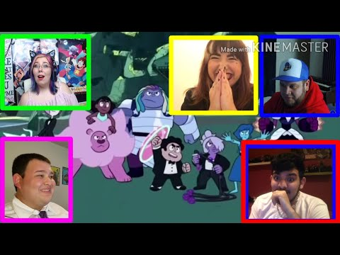 Youtubers react to The Crystal Gems VS Blue Diamond (Steven universe)