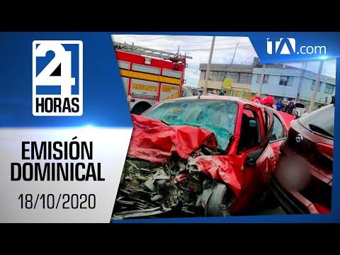 Noticias Ecuador: Noticiero 24 Horas, 18/10/2020 (Emisión Dominical)