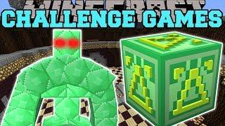 Minecraft: GIANT EMERALD GOLEM CHALLENGE GAMES - Lucky Block Mod - Modded Mini-Game