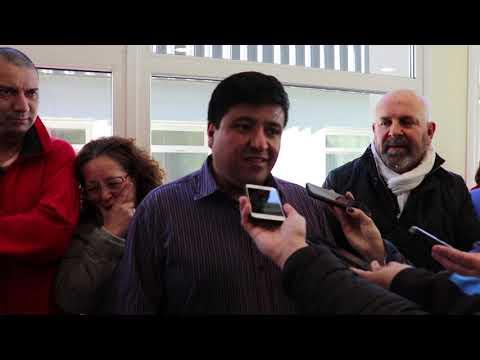 Enfermeros del Hospital Regional Río Grande dieron una conferencia de prensa
