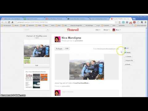 How to add links to your pins in Pinterest