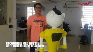 Guest interaction with Mitra Robot from Invento