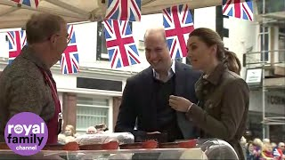Duke and Duchess of Cambridge visit market town in Cumbria