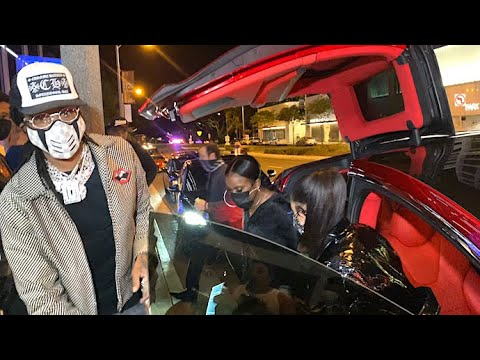 Quavo And Saweetie Roll Up In Style For Doja Cat's Fashion Launch