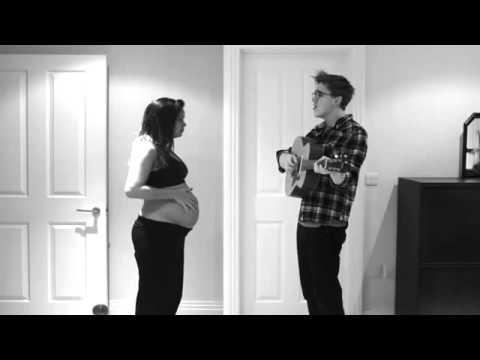 Una foto por día durante nueve meses: mira el video del embarazo de esta pareja