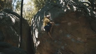 James Paearson and Caroline Ciavaldini climbing in La Capelle by La Sportiva