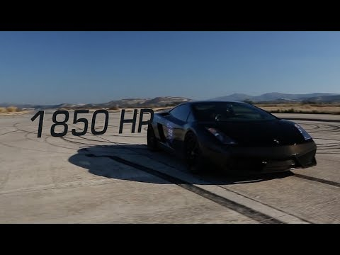 0 Nera My God to Thee: Blacked out Lamborghini Gallardo Blasts to New Standing Mile Record [Video]