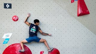 Lots of jumps and big holds in the male qualis | Innsbruck 2018 by OnBouldering