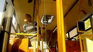 Ostra jazda w autobusie typa po dopalaczach!