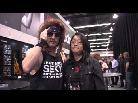 steel - Satchel from Steel Panther takes over Guitar World at NAMM 2015!