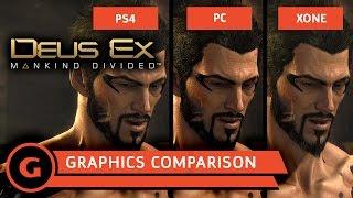 Deus Ex: Mankind Divided Graphics Comparison by GameSpot