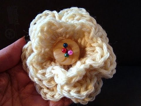 HOW TO CROCHET A 3 LAYER FLOWER