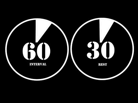 intervalo 60 segundos con 30 segundos resto ✔