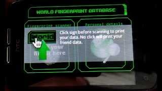 Friend's Fingerprint Scanner YouTube video