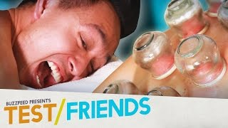 Video People Try Fire Cupping Therapy • The Test Friends MP3, 3GP, MP4, WEBM, AVI, FLV Juli 2018