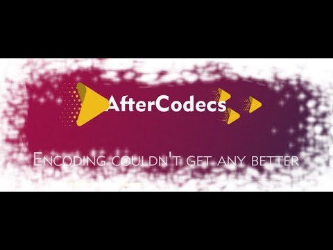 How to install AfterCodecs in ADOBE After effects