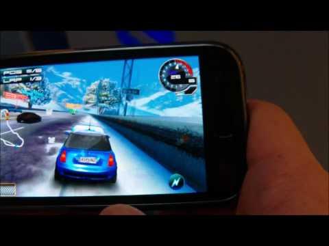 Samsung Galaxy S running Asphalt 5