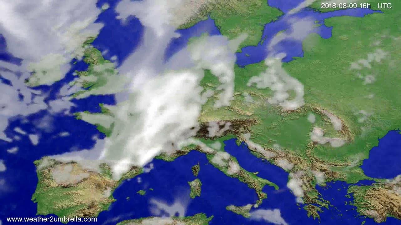 Cloud forecast Europe 2018-08-06