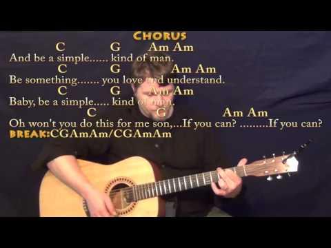 Simple Man Lynyrd Skynyrd Acoustic Guitar Song Tutorial Easy