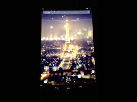 Video of Paris Night Light LWP