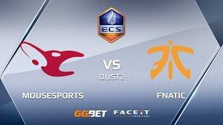 mousesports vs fnatic, dust2, ECS Season 6 Europe
