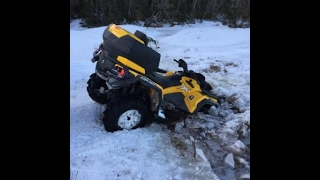 7. Can Am Outlander Max 650 XT, Honda Rubicon 500 and a Suzuki, snow ride to Bay Bulls