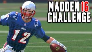 Tom Brady Kick Return! - Kick Returning With Quarterbacks - Madden 16 NFL Challenge