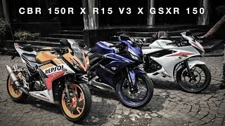 Video R15 V3 x GSXR 150 x CBR 150R ( SUNMORI ) MP3, 3GP, MP4, WEBM, AVI, FLV April 2017