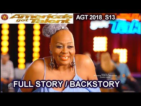 Ms Trysh  SIMON HUG FULL STORY BACKSTORY America's Got Talent 2018 Audition AGT