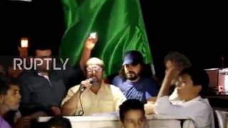 Protesters in Bani Walid rallied on Saturday night calling for Saif al-Islam Gaddafi, a son of former Libyan leader Muammar Gaddafi, to lead the country. SOT ...