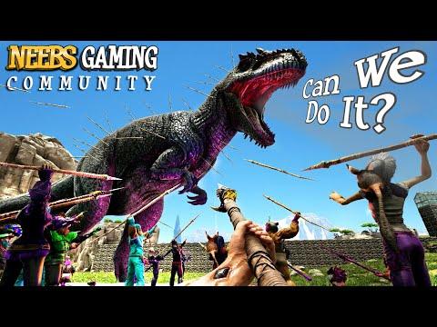 Spear Army vs GIGA!!! Ark Survival Community