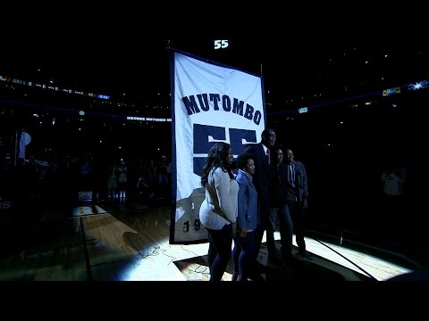 Denver Nuggets Retire Dikembe Mutombo's #55