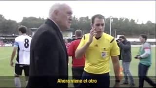 Se lesiona un linier en el partido del Castilla y le suple un aficionado de la grada