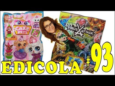EDICOLA #93: CAKE PETS & VIRUS ATTACK Pacco con 6 bustine (unboxing by Giulia Guerra) (видео)