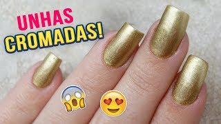 Curso de manicure online - Unhas Decoradas Passo a Passo  Como Fazer Unhas Cromadas
