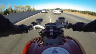 6. Lane Splitting on a Ducati Streetfighter 1098 (Perfect Onboard Sound)